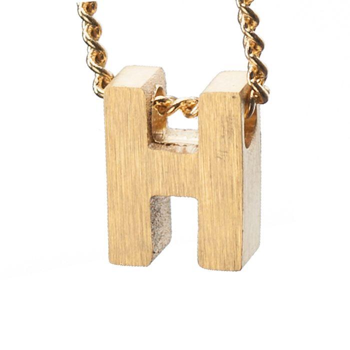 LUZ - breloque dorée lettre H