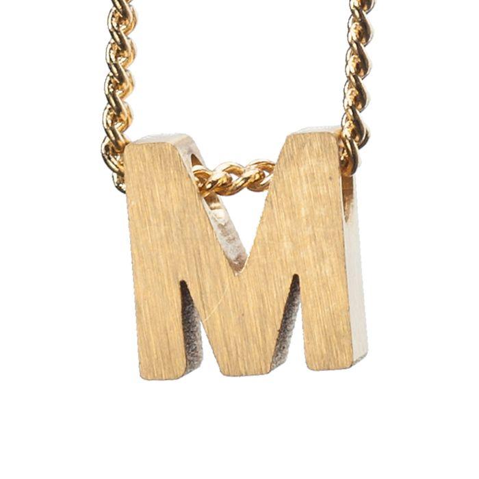 LUZ - breloque dorée lettre M