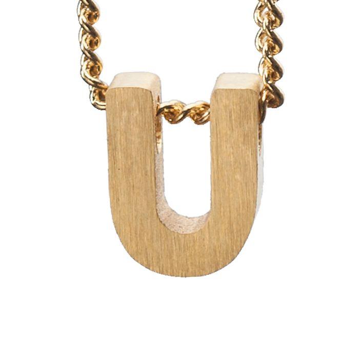 LUZ - breloque dorée lettre U