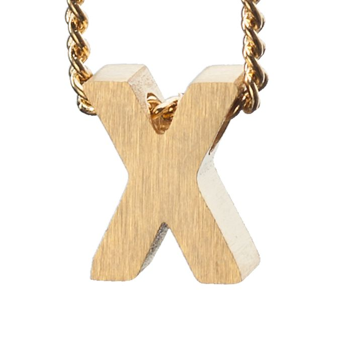 LUZ - breloque dorée lettre X