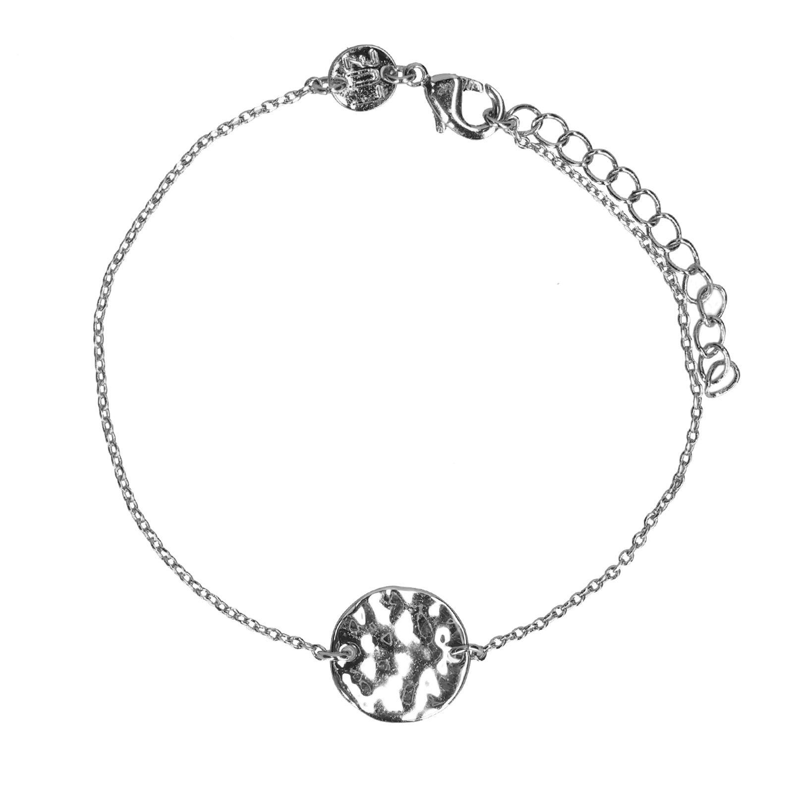 Silbernes Armband Mit Münz Anhänger