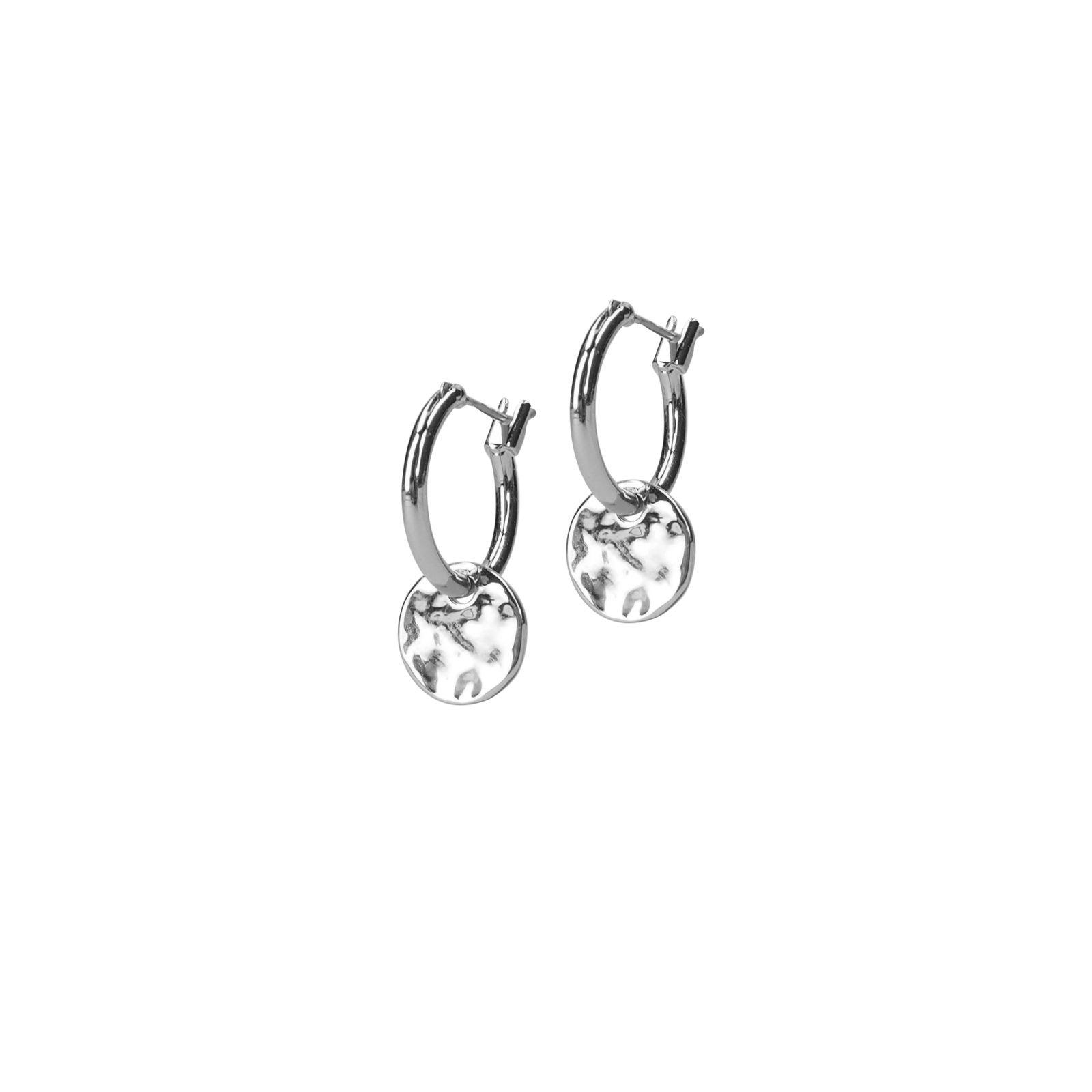 Silberne Ohrringe Mit Münz Anhänger