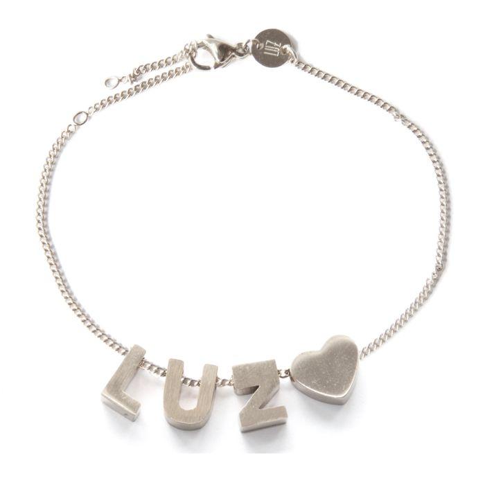 LUZ Buchstaben-Armband silber