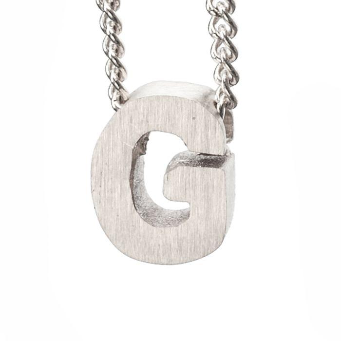 LUZ Buchstaben-Anhänger G silber