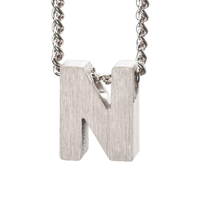 LUZ Buchstaben-Anhänger N silber