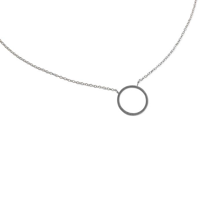 LUZ Circle of Joy-Kette silber