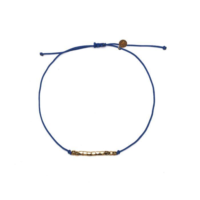 LUZ friendship rope armbandje blauw