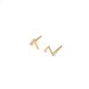 LUZ V shape oorstuds goud