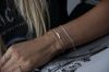 LUZ handmade heart armbandje goud