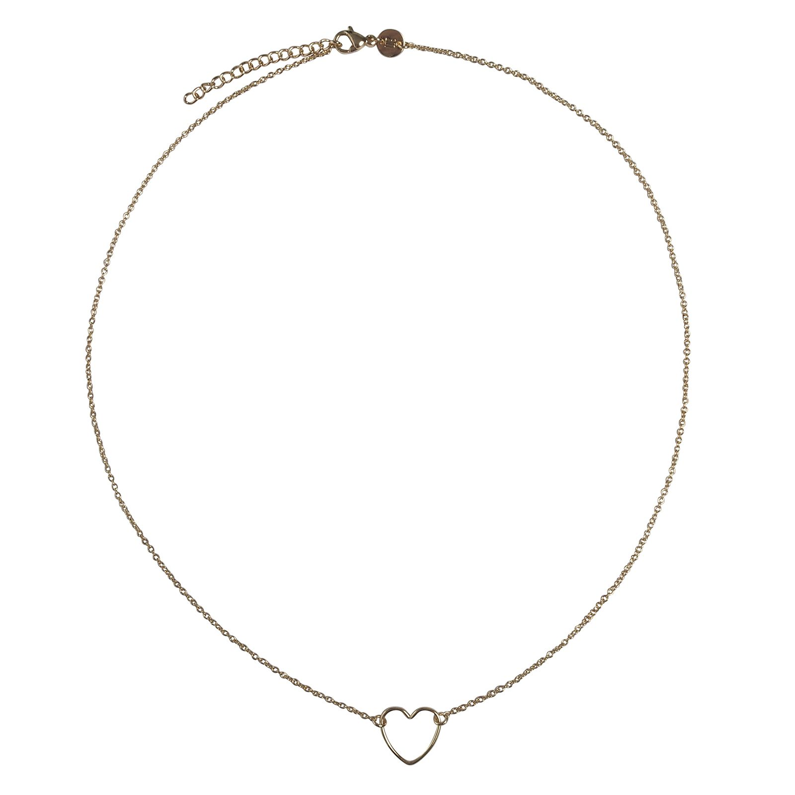 LUZ handmade heart ketting goud