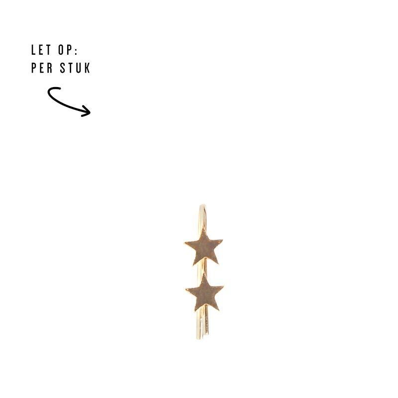 LUZ double stars oorbel goud