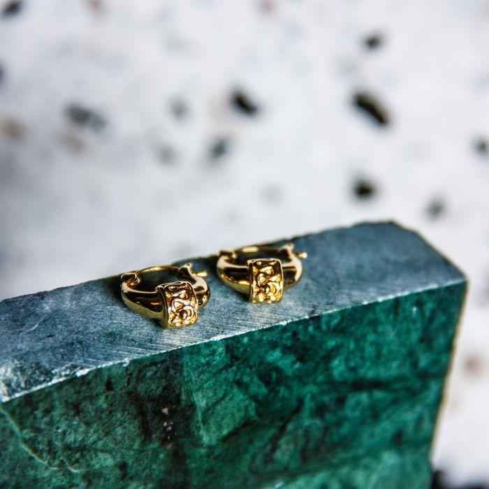 LUZ bohemian oorbellen goud