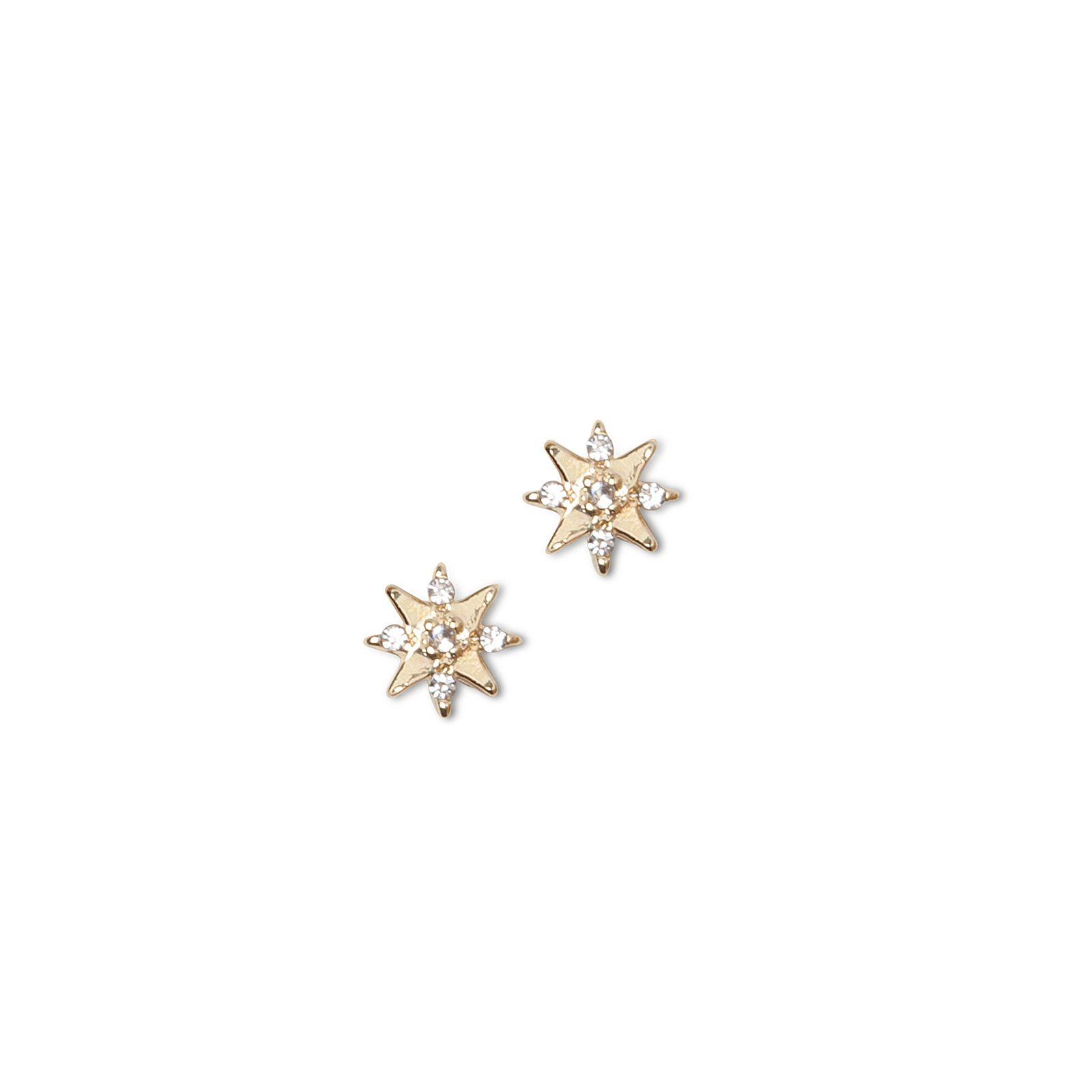 LUZ sterrenstud oorbellen goud