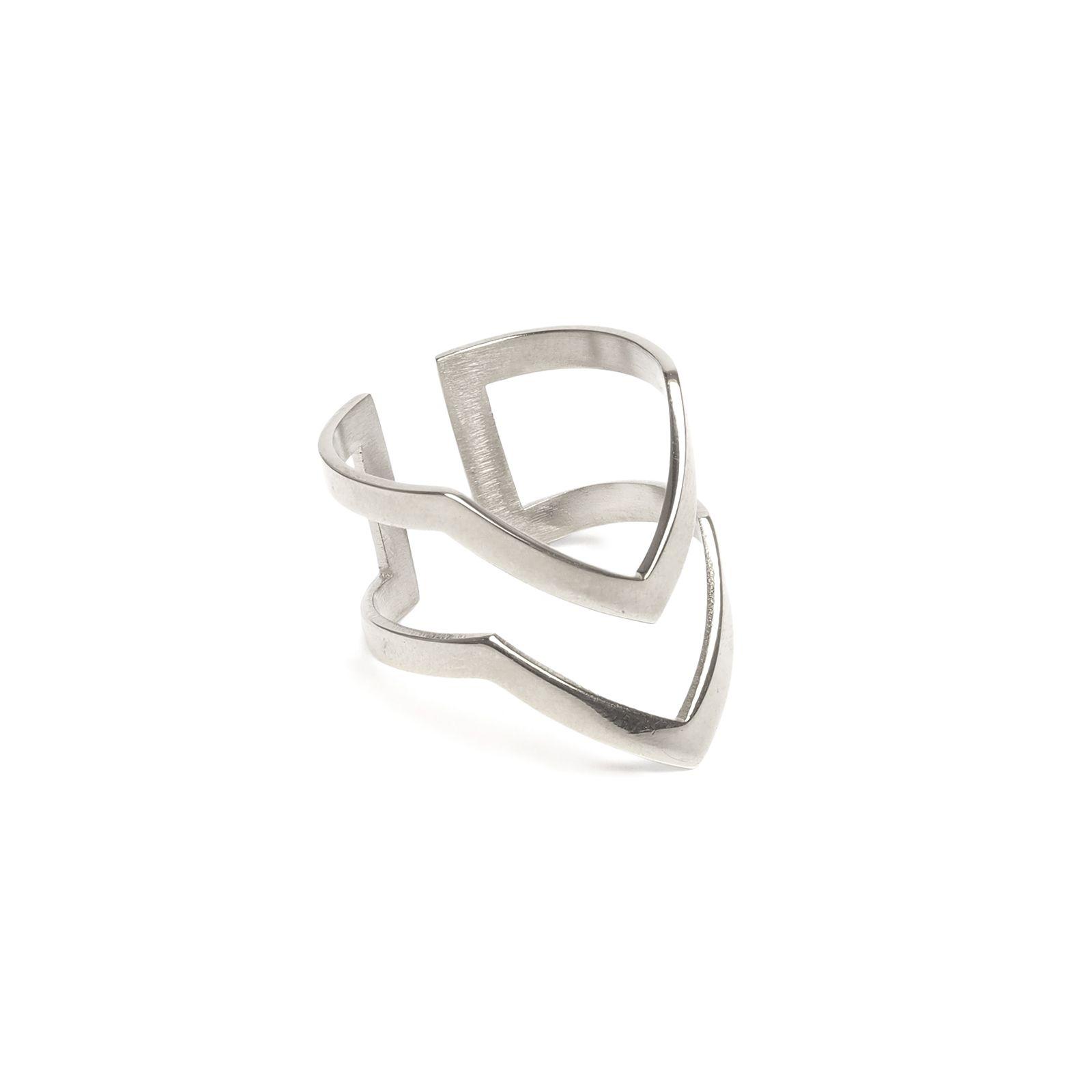 LUZ ring double V zilver
