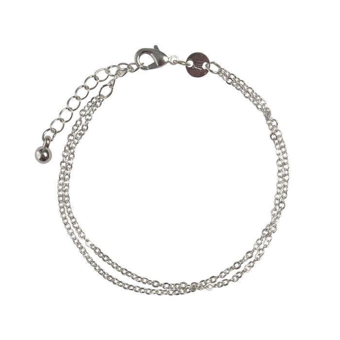 LUZ double chain armbandje zilver
