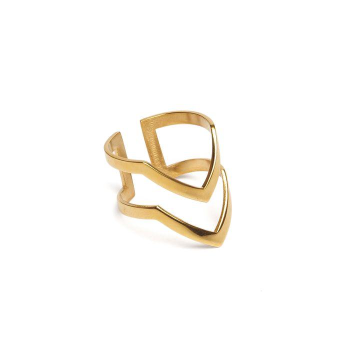LUZ V-förmiger Ring gold