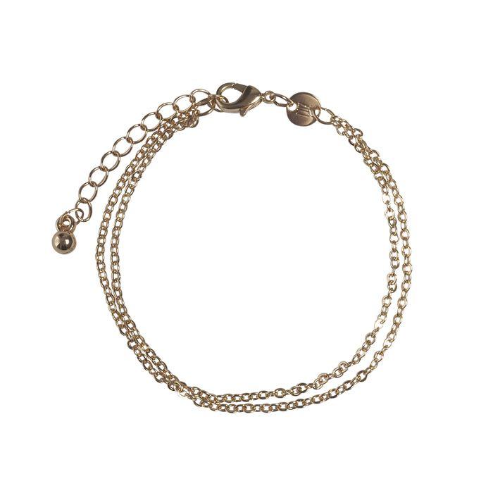 LUZ Armband mit Doppel-Kette gold