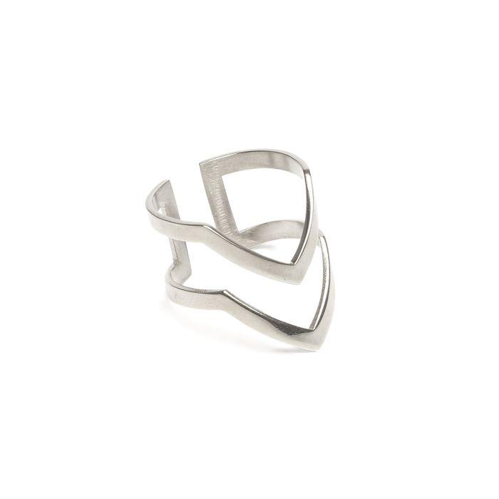 LUZ V-förmiger Ring silber