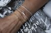 LUZ Armband mit Origamivogel silber
