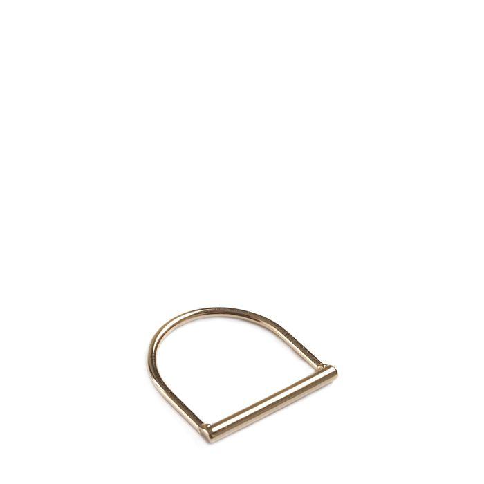 LUZ tubular ring goud