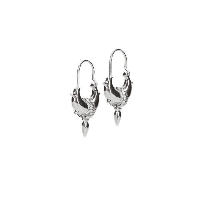 LUZ Tibetaanse oorbellen met spikes zilver