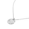 LUZ hammered coin ketting zilver