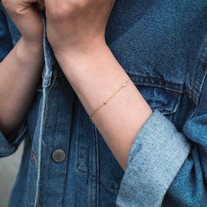 LUZ zirkonia stone armband zilver
