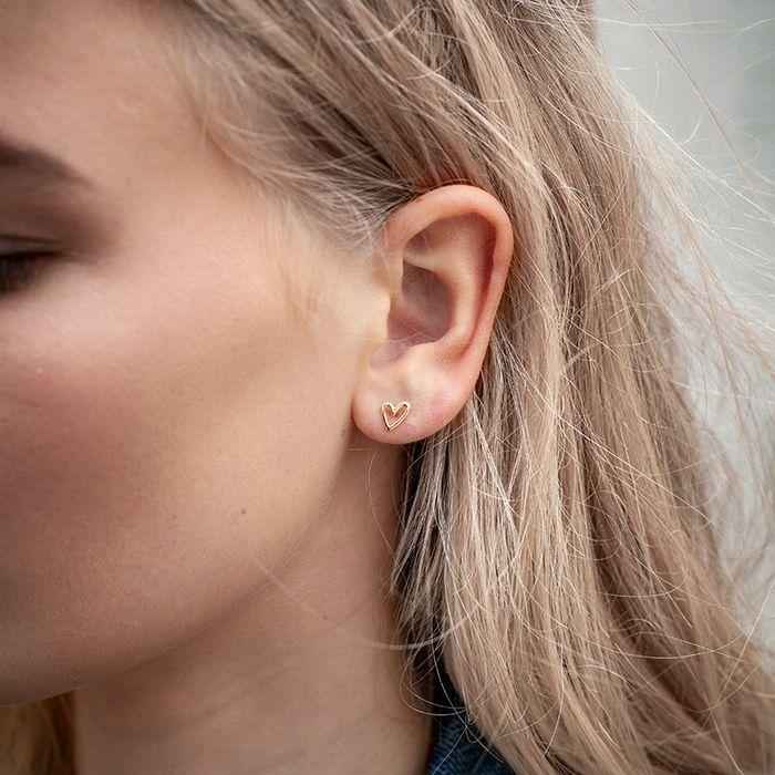 LUZ oorbellen met hartje zilver