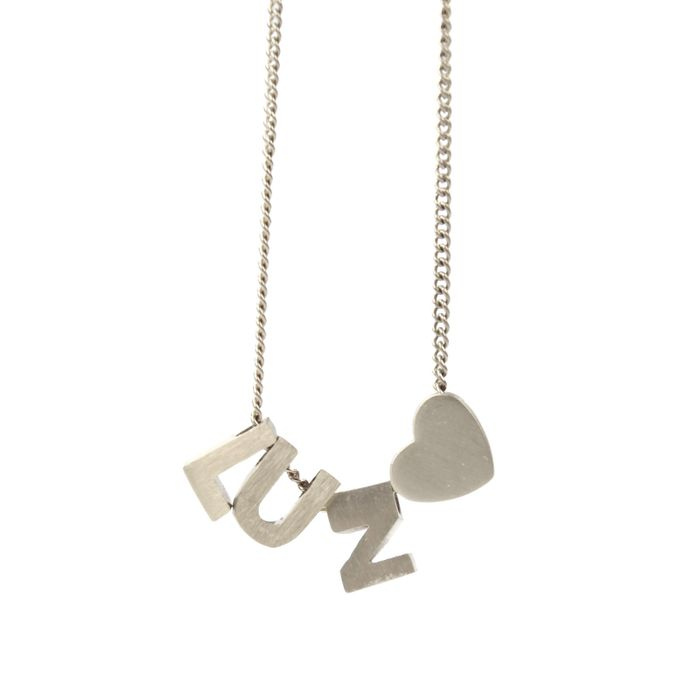 LUZ basis ketting initials zilver