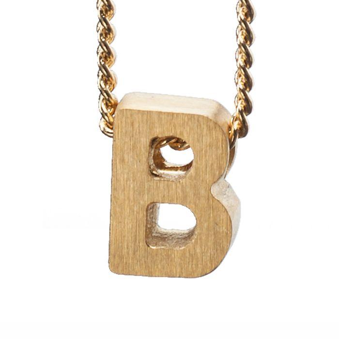 LUZ gouden bedel letter B
