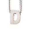 LUZ zilveren bedel letter D