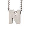 LUZ zilveren bedel letter N