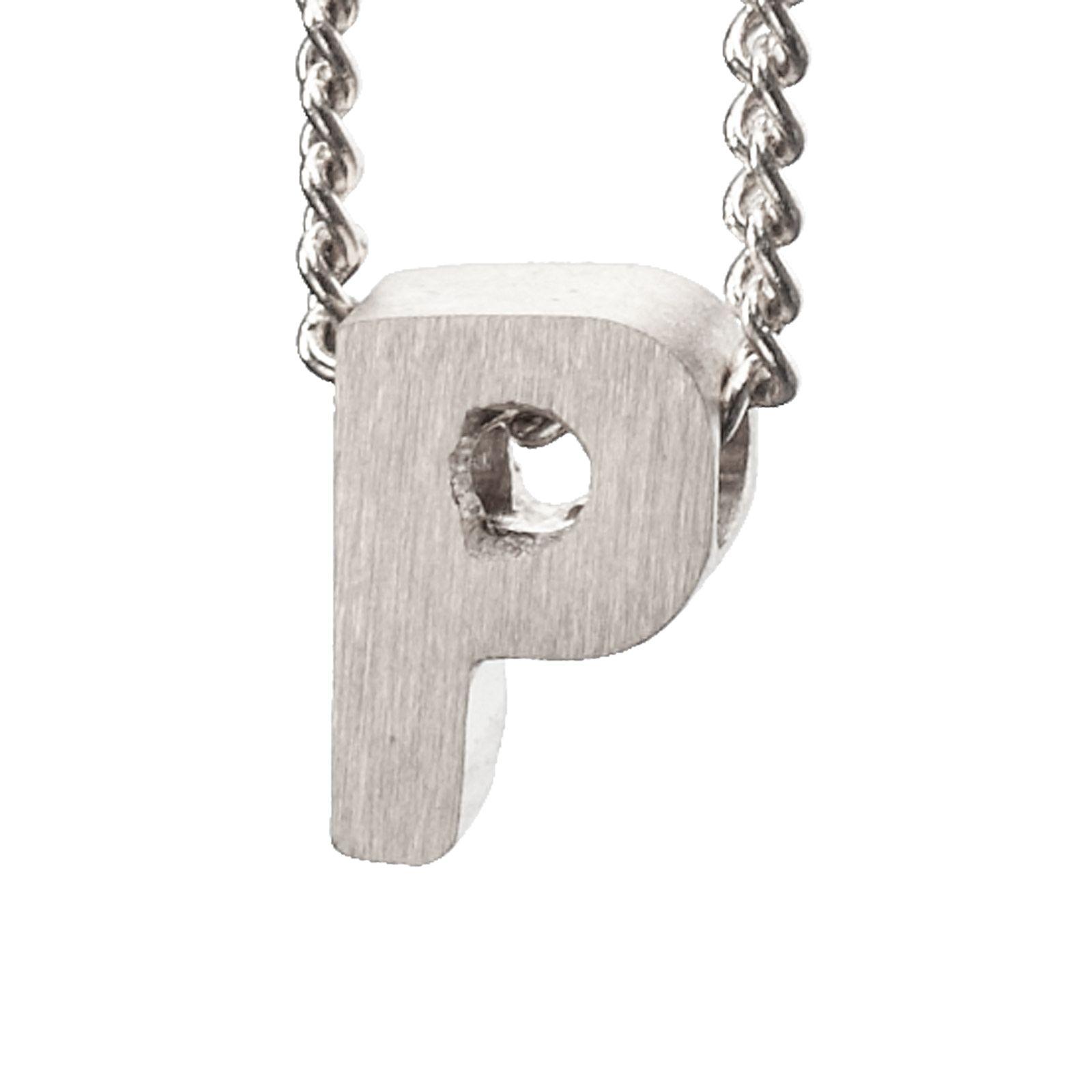 LUZ zilveren bedel letter P