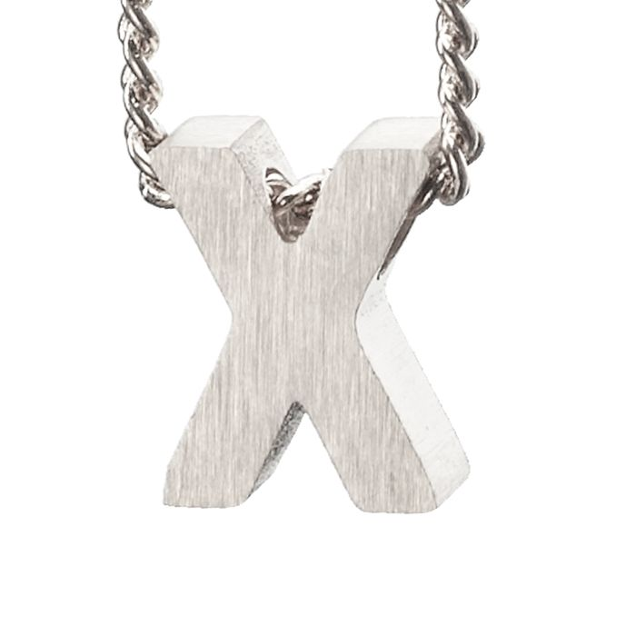 LUZ zilveren bedel letter X