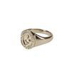 LUZ snake signet ring goudkleurig