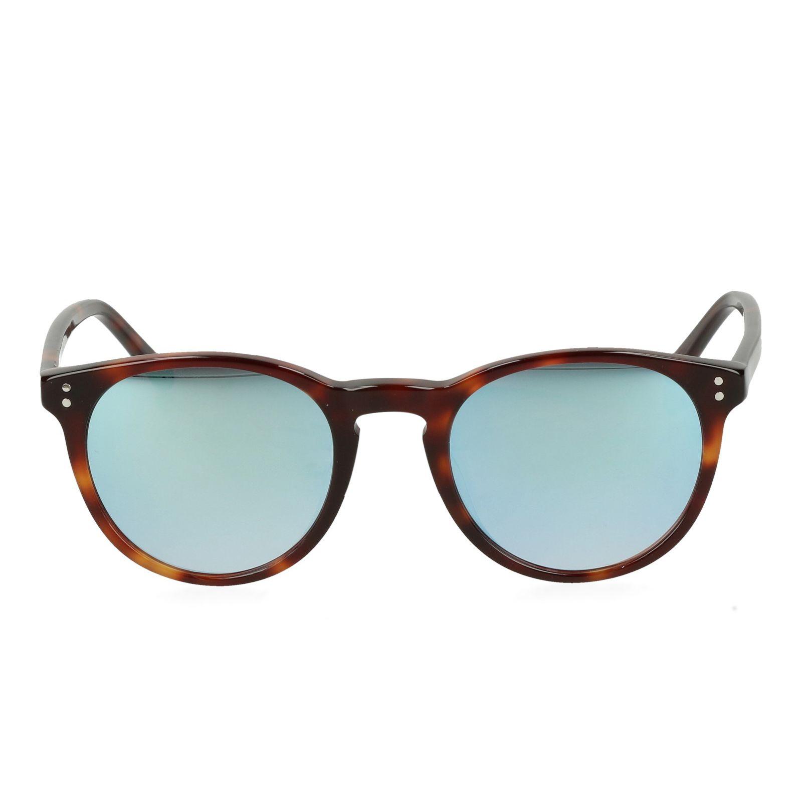 04de34ee7aaf29 Bruine retro zonnebril met spiegelglazen - Accessoires