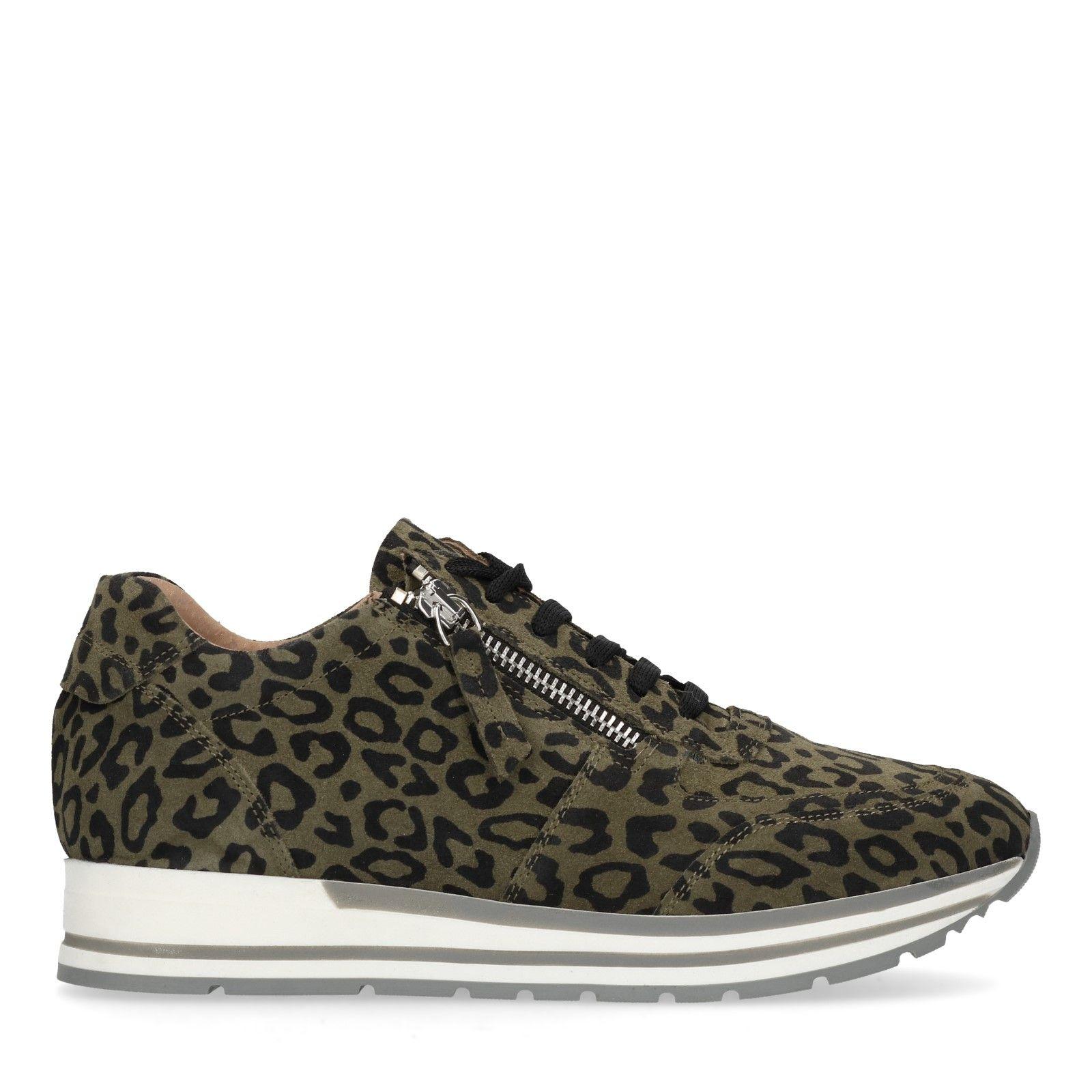 Sneaker Grüne Grüne Leopardenmuster Sneaker Grüne Mit Sneaker Leopardenmuster Mit 6O6WqUY