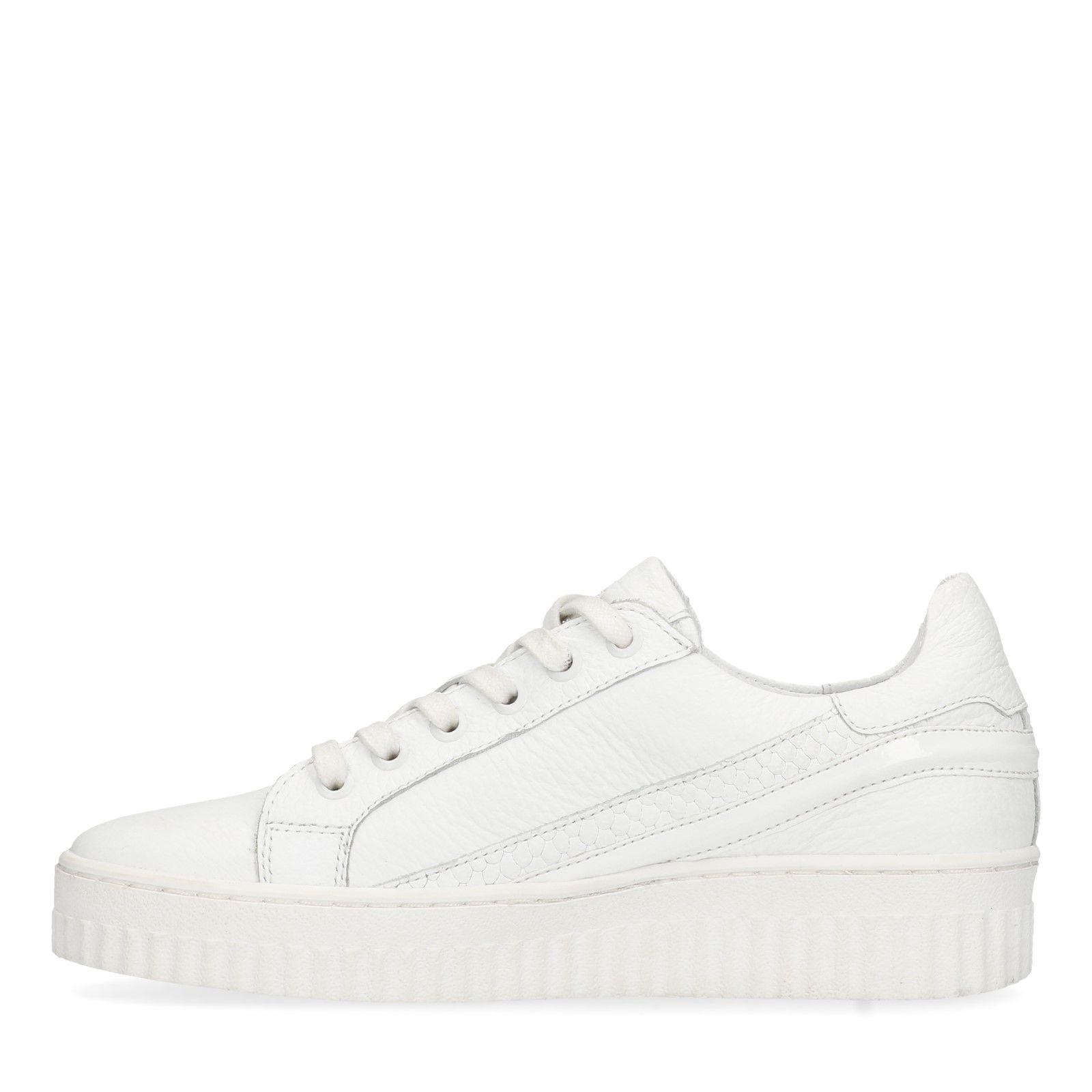 arrives ada5e a7b8b Weiße Leder-Sneaker
