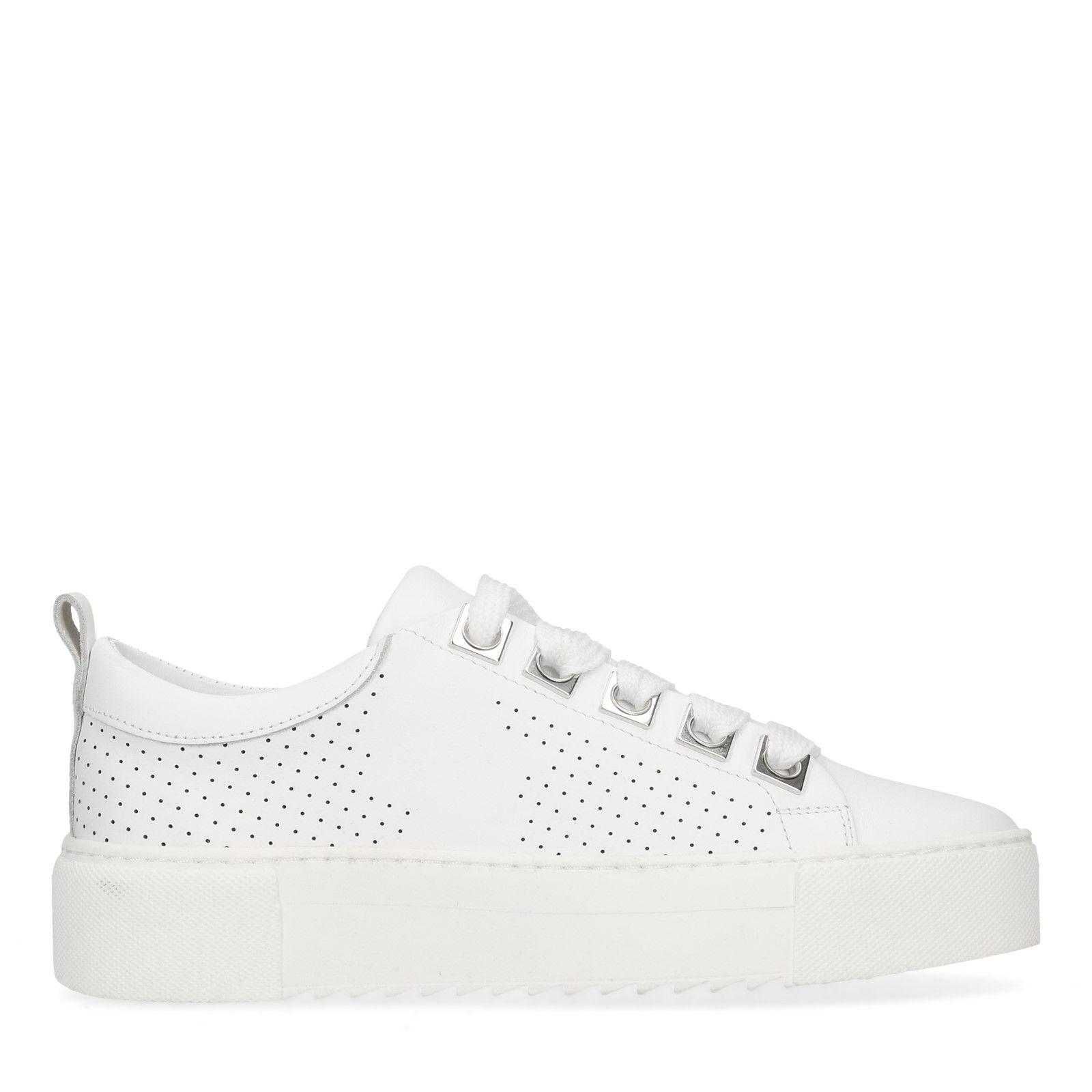9e01e8579c0a97 Weiße Leder-Sneaker
