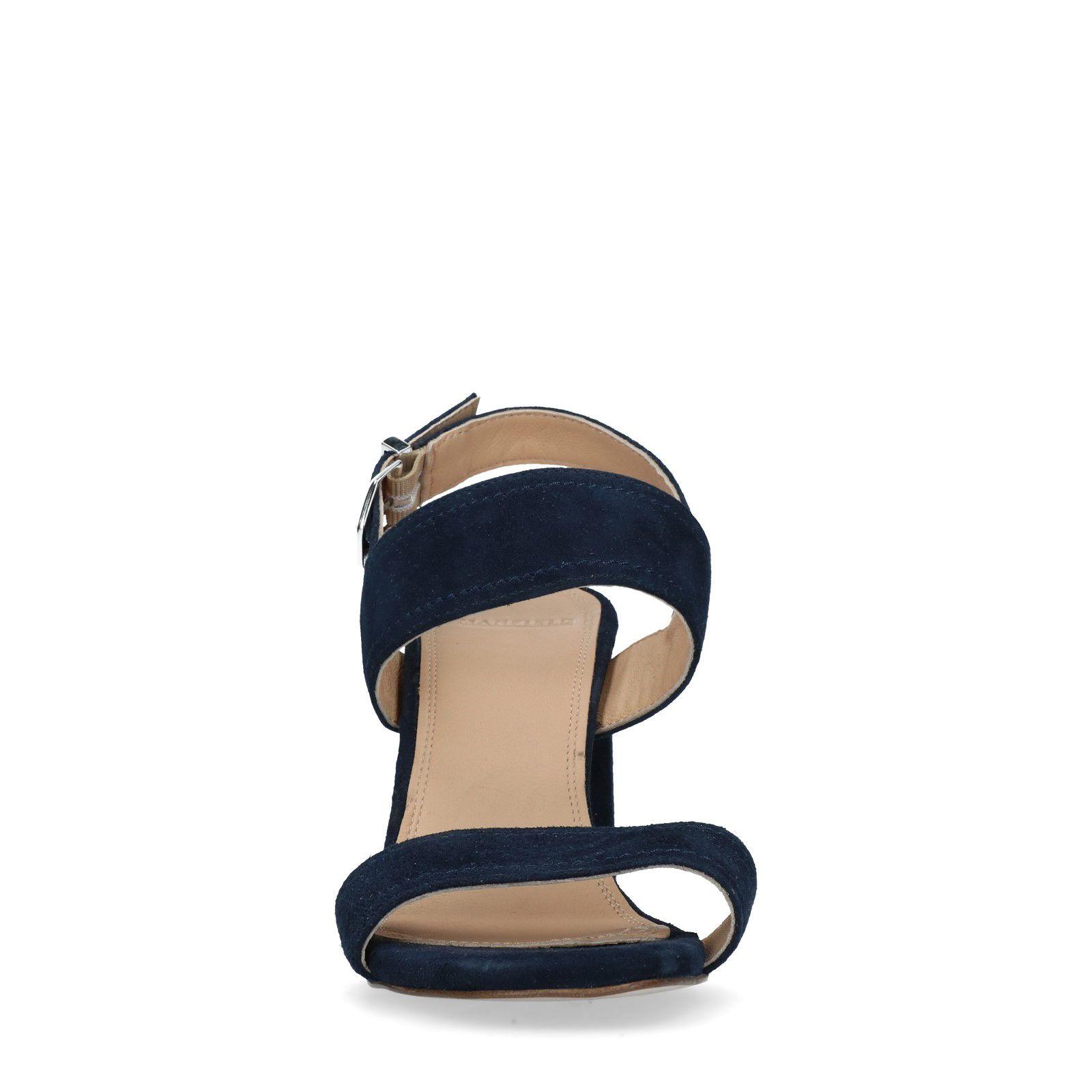 Sandaletten Mit Dunkelblaue Dunkelblaue Sandaletten Blockabsatz LqSUzMpGV