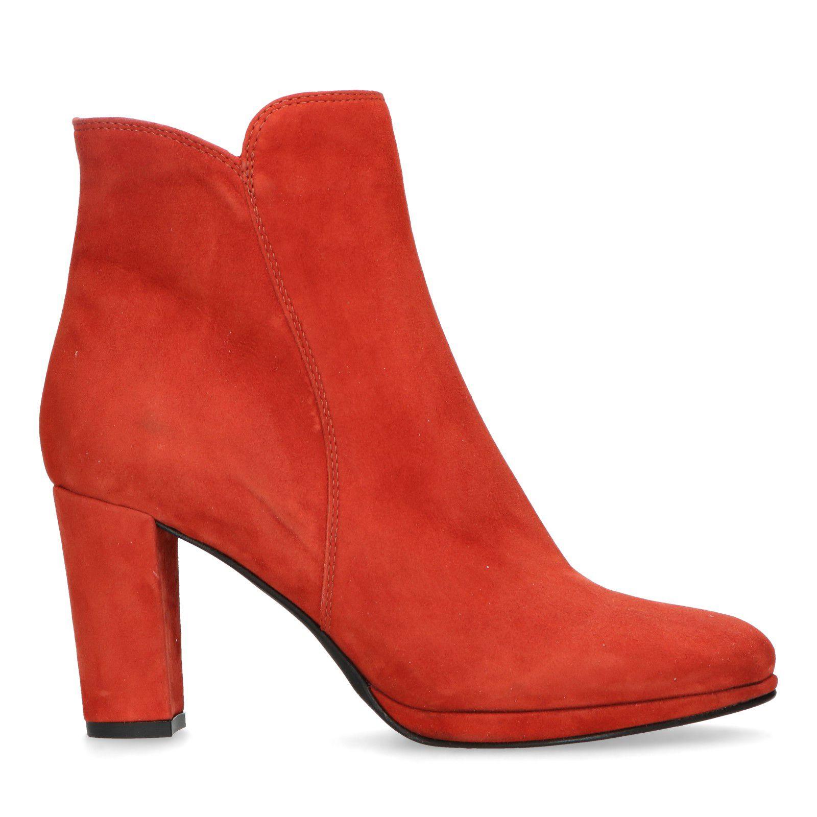 newest 2d227 0b402 Rote Absatz-Stiefeletten