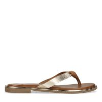 27db9599679 sale Manfield Leren cognac slippers met metallic detail € 49, € 34, Shop nu  >