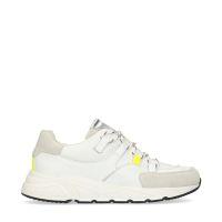 3cdc308c042 Manfield Witte dad sneakers met neon details € 99, Shop nu >