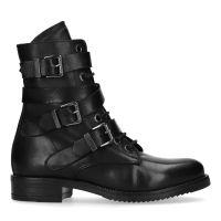 c7ec91995ae Manfield Zwarte biker boots met gespen en veters € 149, Shop nu >