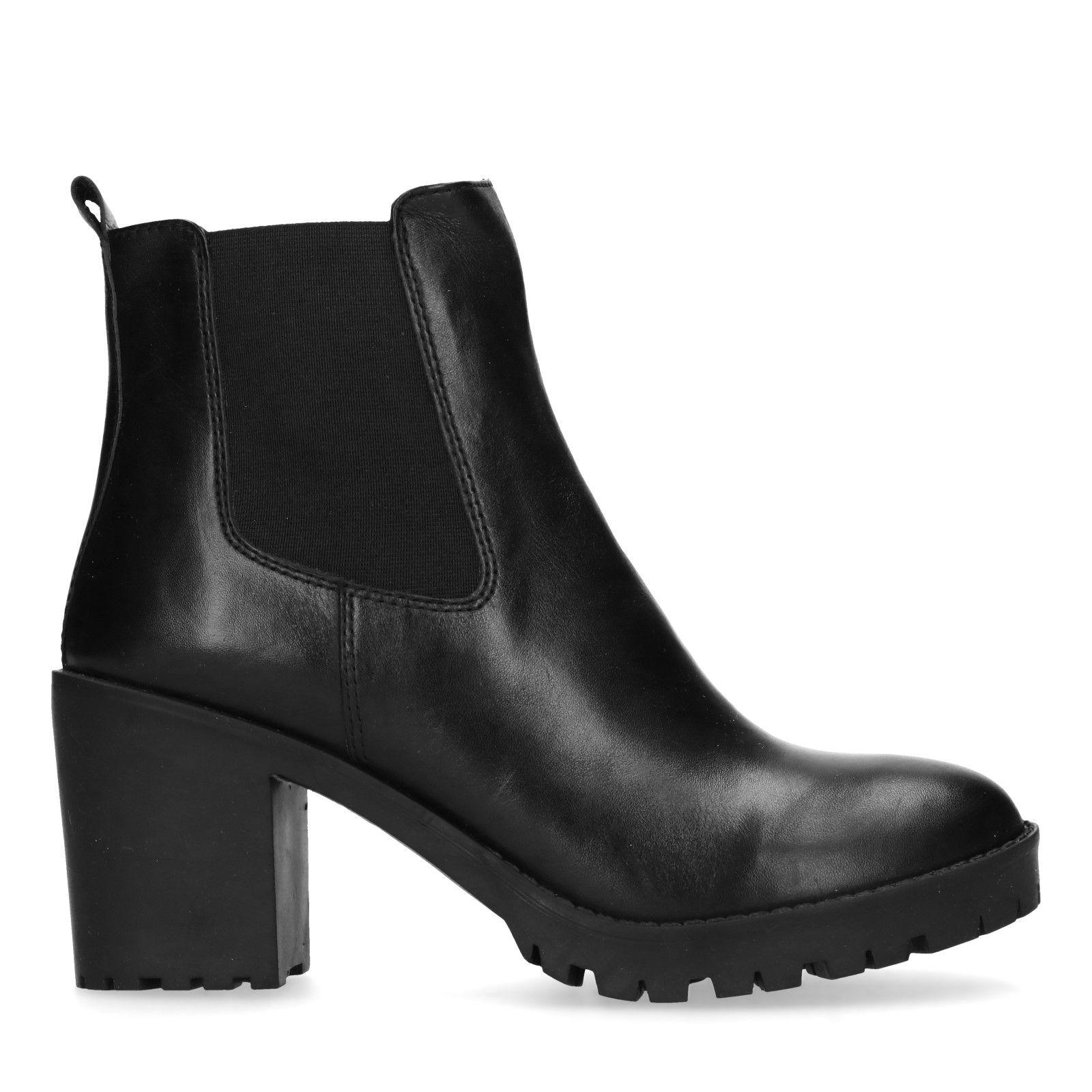 bruine chelsea boots dames hak