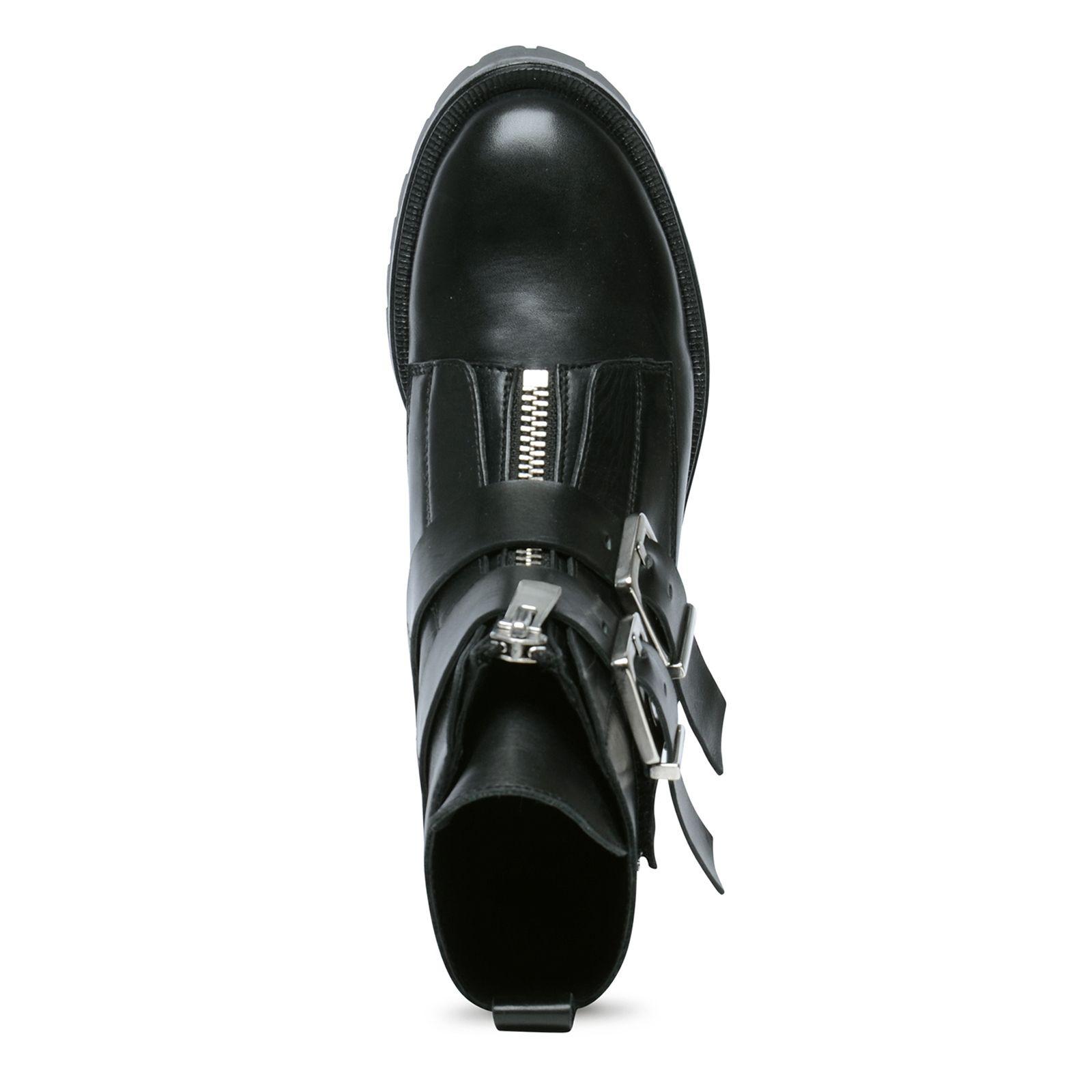 Biker boots met gespen Dames | MANFIELD