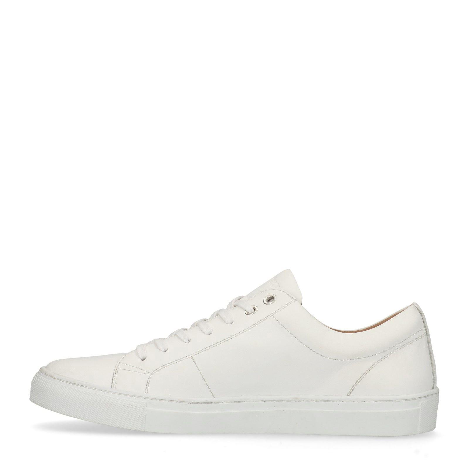 b74c360aa3a Witte leren sneakers - Heren | MANFIELD
