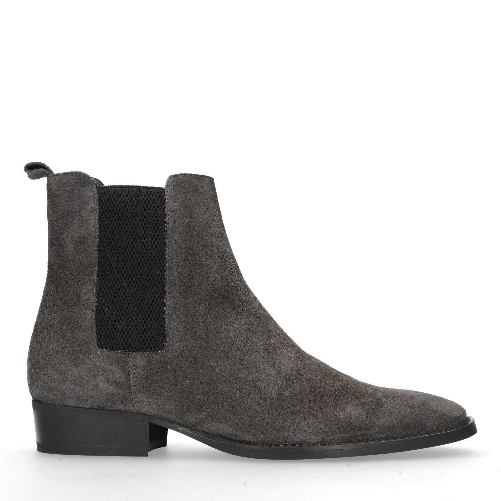 Grijze suède chelsea boots Heren | MANFIELD
