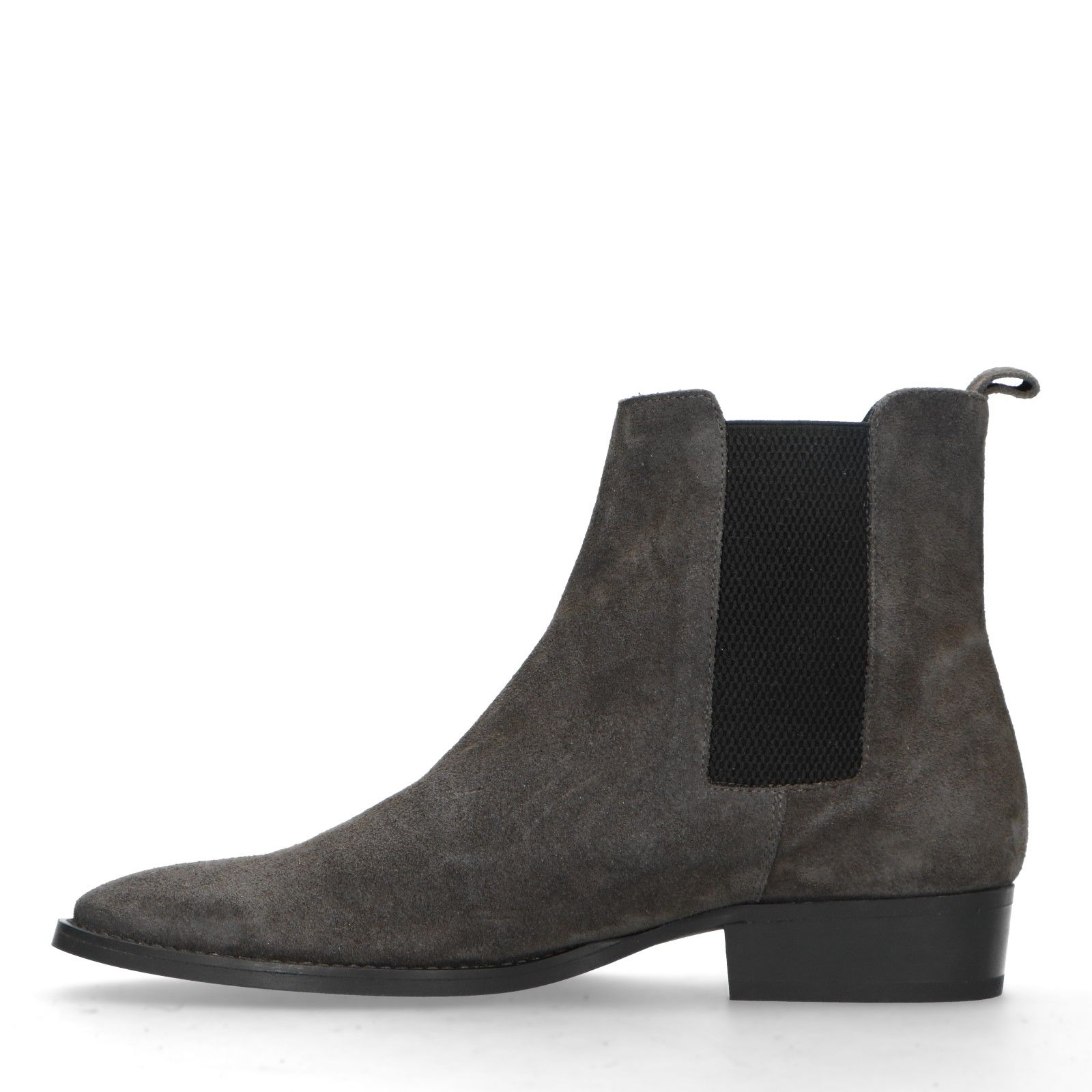 Grijze leren chelsea boots Heren | MANFIELD