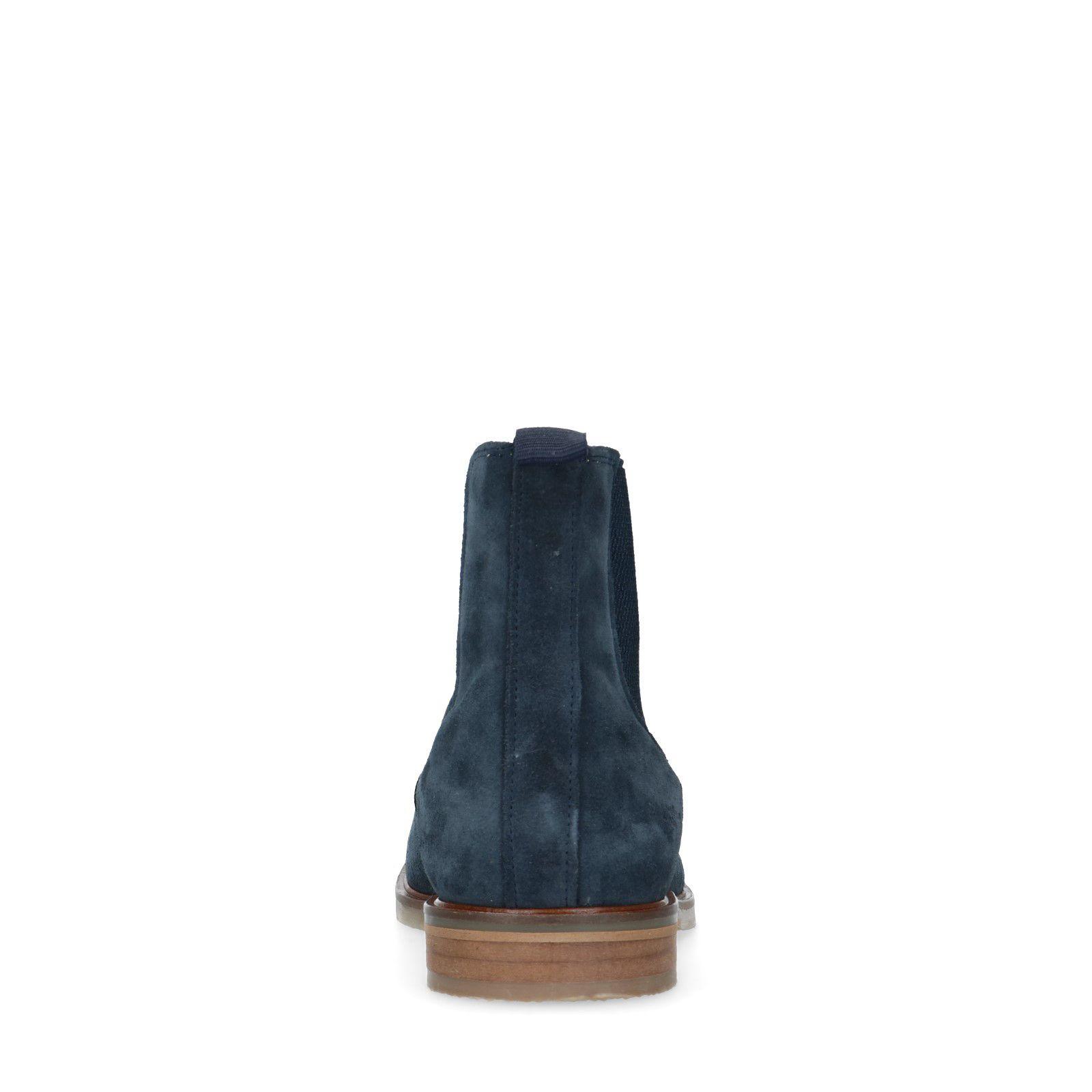 Blauwe suède chelsea boots Heren | MANFIELD